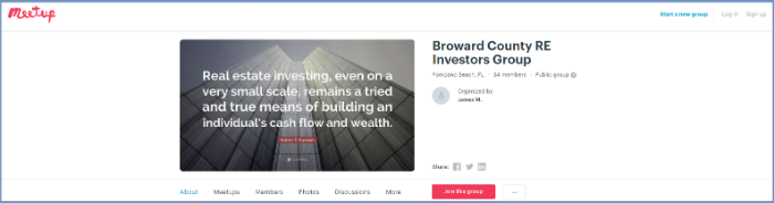 Meetup Real Estate Investors broward