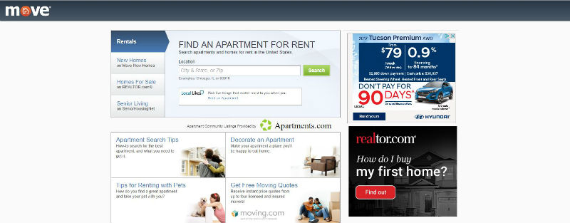 Move.com Is A Member Of A Large Network Of Websites That Covers Different  Aspects Of The Real Estate Industry. It Provides Detailed Rental Listings,  ...