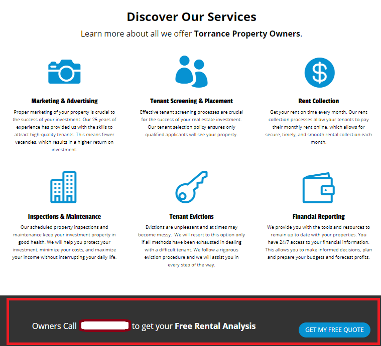 Property Management Landing Page