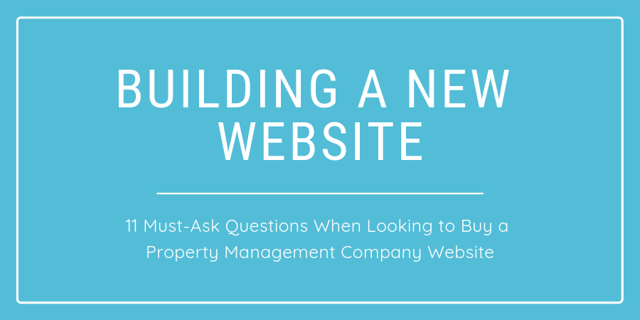 Building a new property management website
