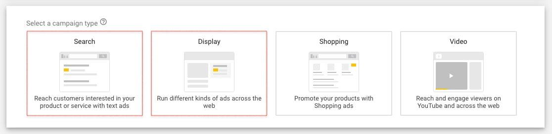 google-campaign-type