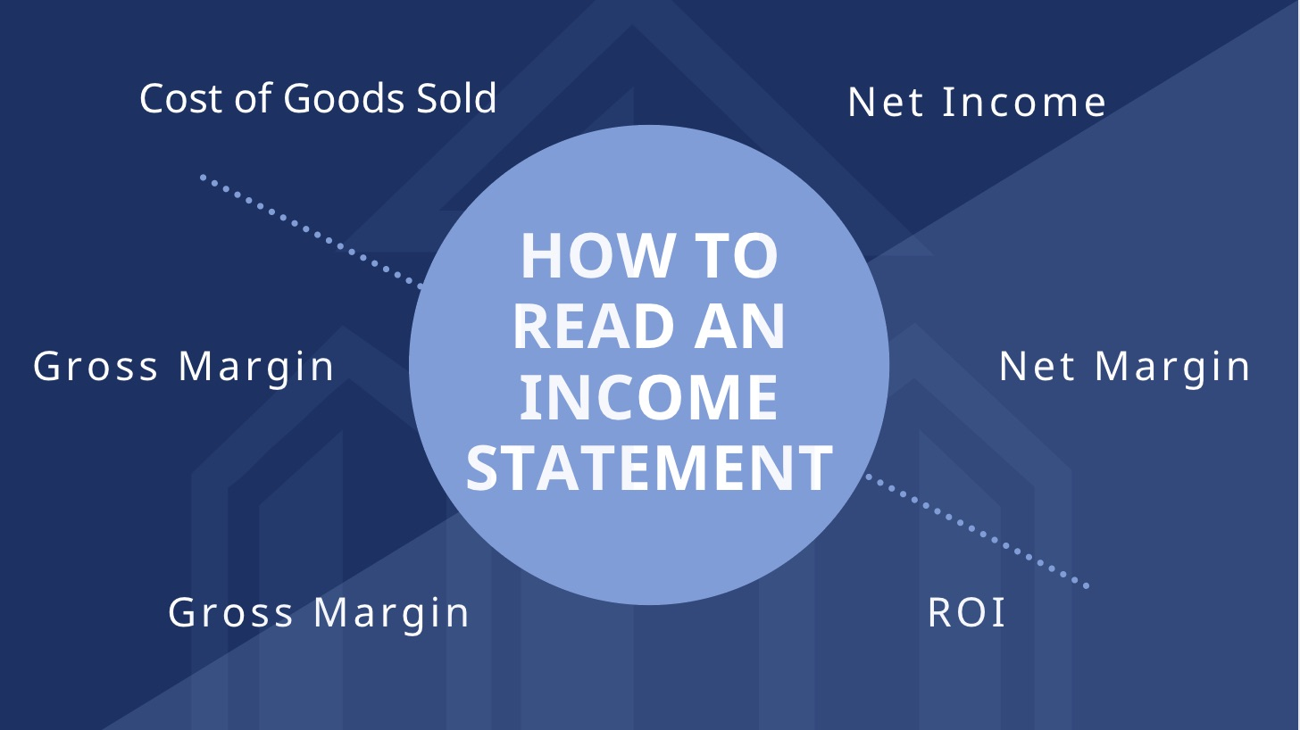 how to read income statements