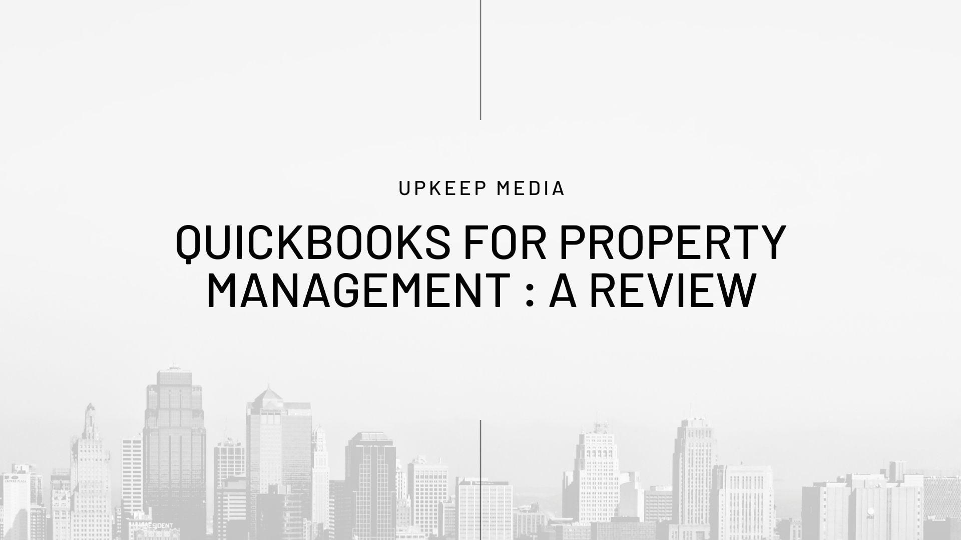 quickbooks property management