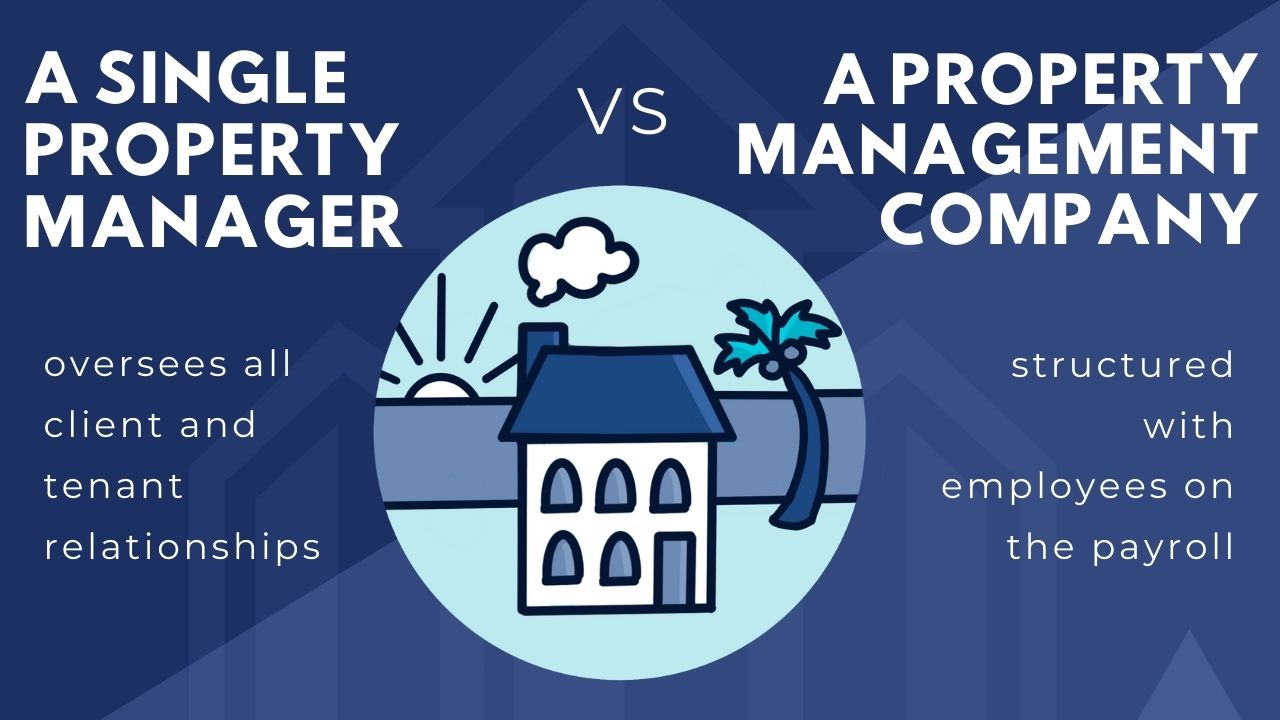 how to become property manager in florida - single property manager vs a property management company