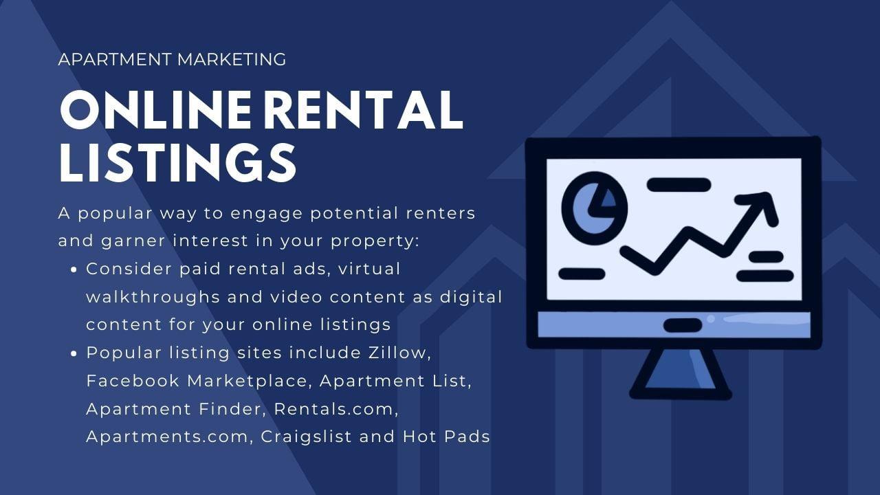 luxury apartment advertising - online rental listings