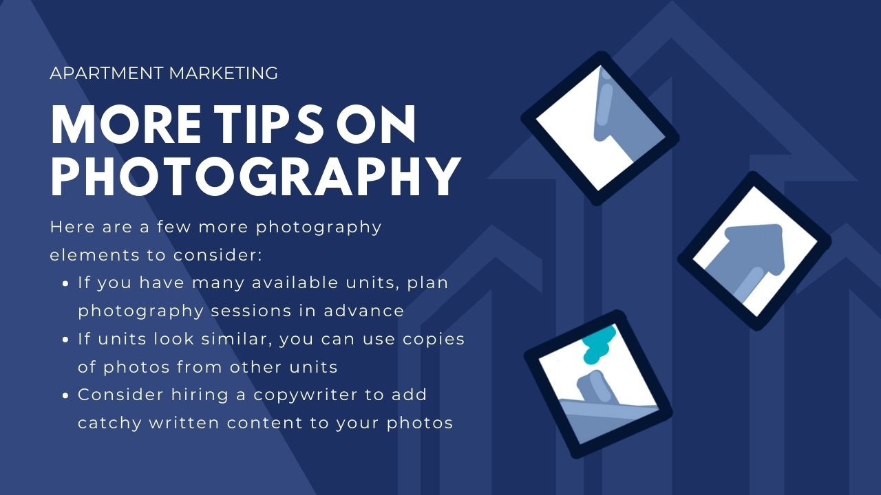 advertising for apartments - more tips on photography