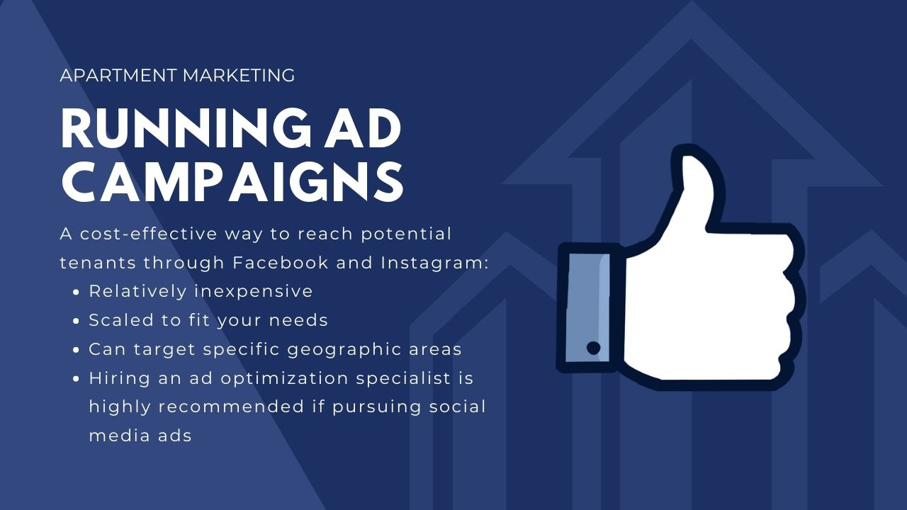 advertising ideas for apartments - running ad campaigns