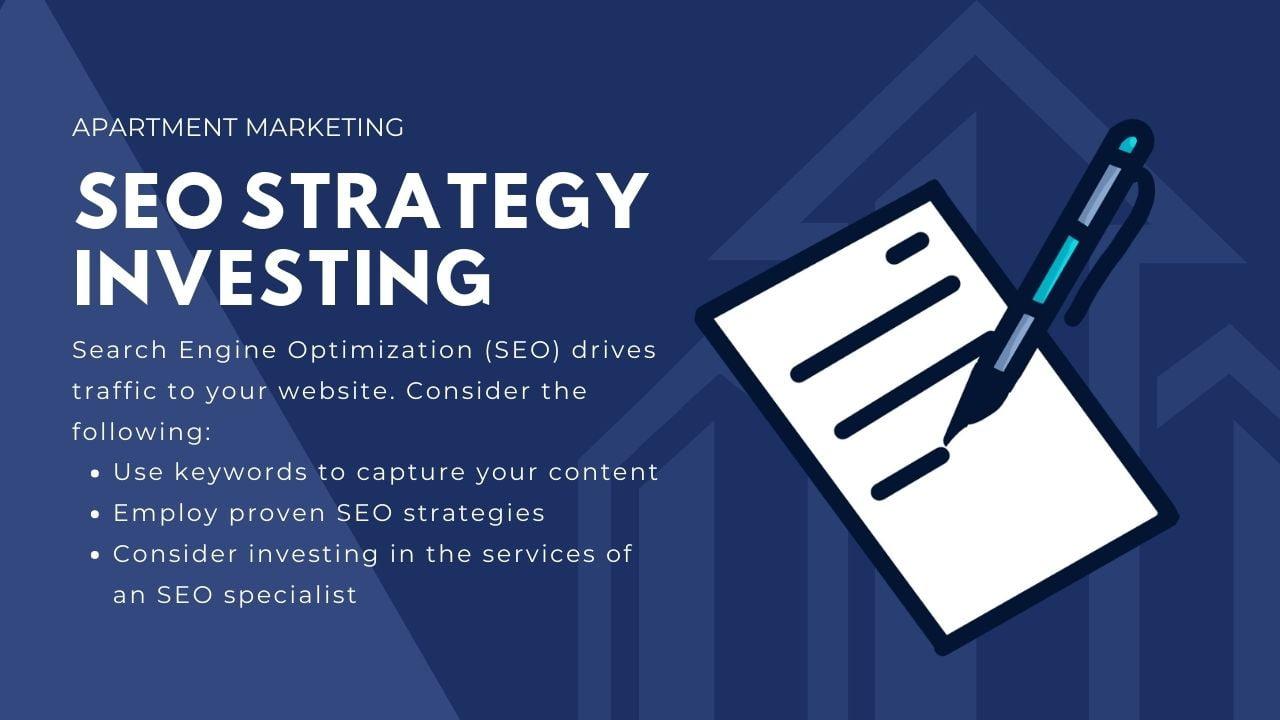 free marketing ideas for apartments - seo strategy