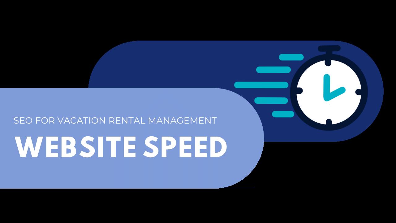 vacation rental management website speed optimization