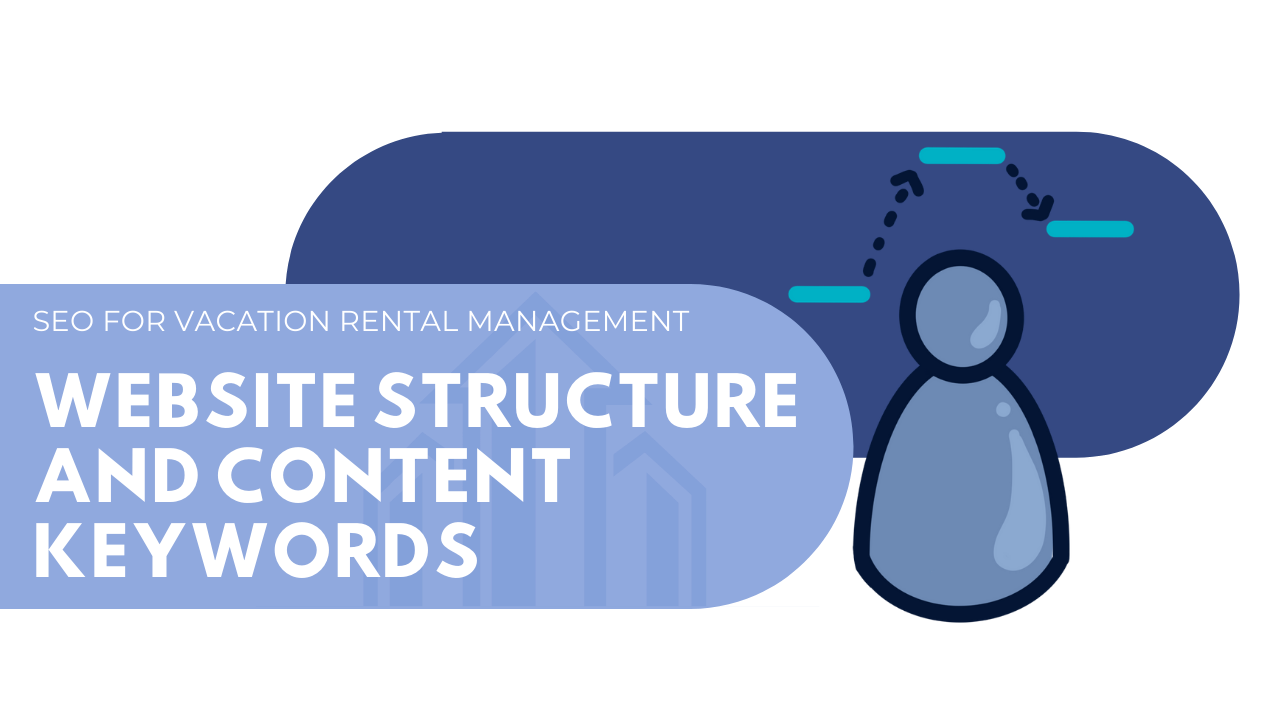 Website structure and content keywords for vacation rental management